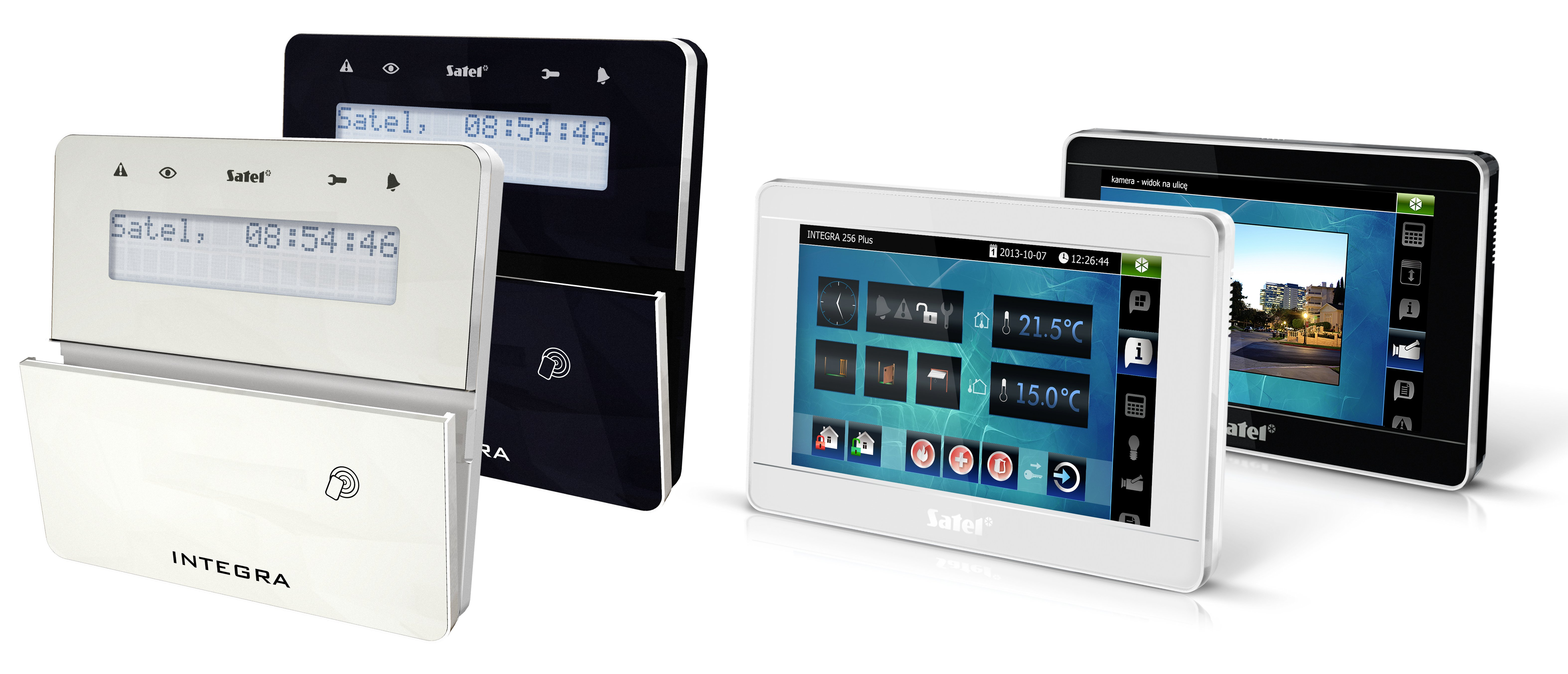 Alarmsystem SATEL integra Bedienteil mit Touch-Screen und iP-Videointegration